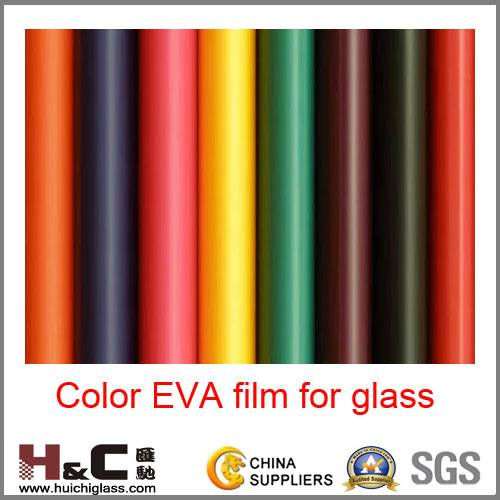 Color film for glass lamination