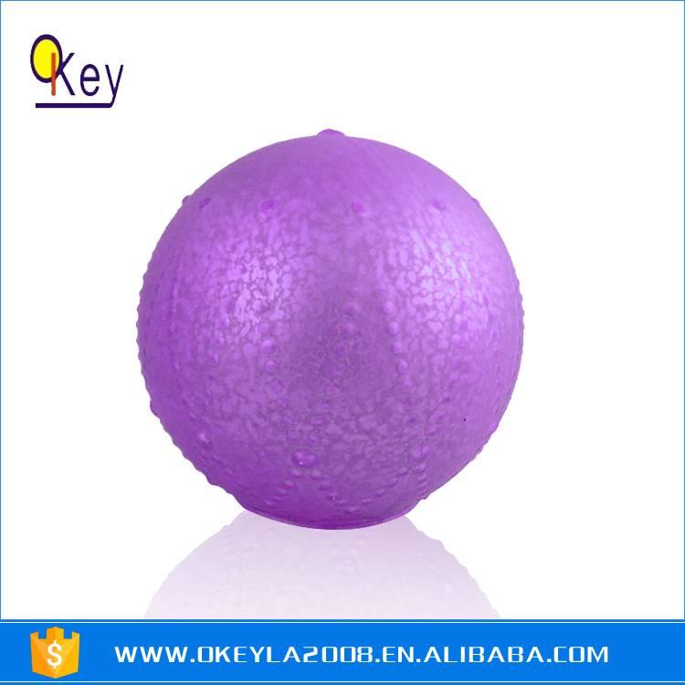 purple Painting Battery LED Light Glass Balls For Sale