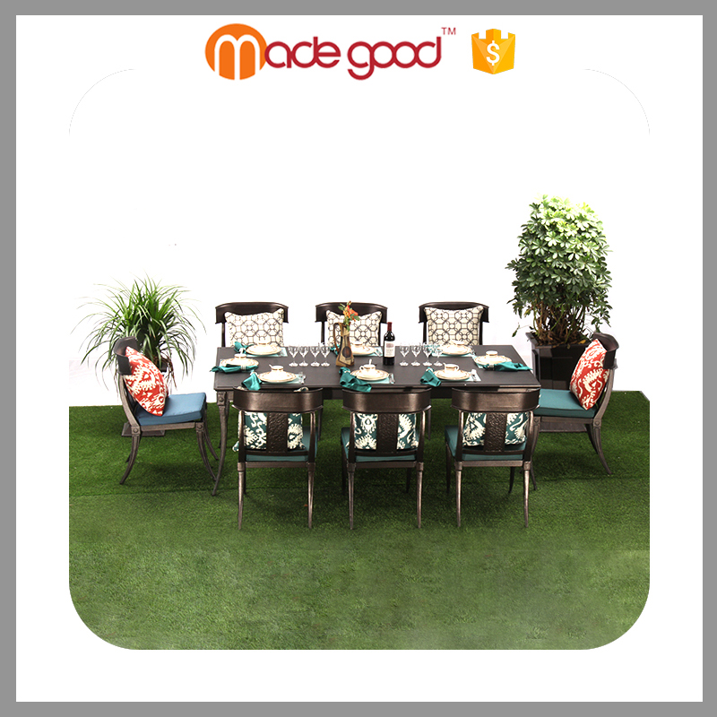 Zhejiang Madegood Wholesale Elegant Modern garden furniture 4 person outdoor table and chairs