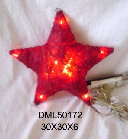 Grass Christmas star with light