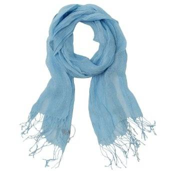 Summer Color 100% Natural Linen Scarf Shawl Stole