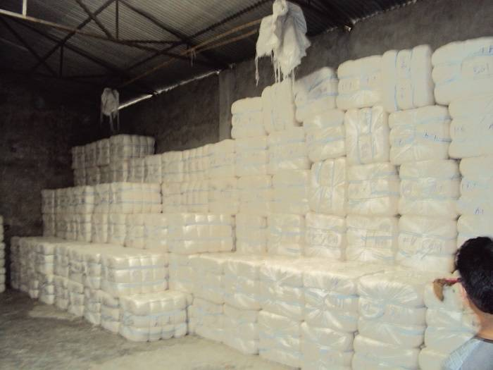 Export worthy Packing for 100% Cotton wastage
