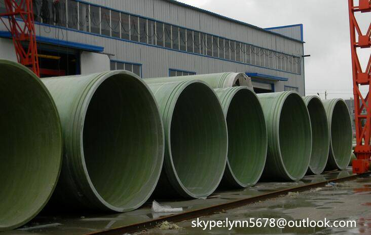 Filament GRP/FRP Winding Pipe with Dn75mm-Dn3600mm