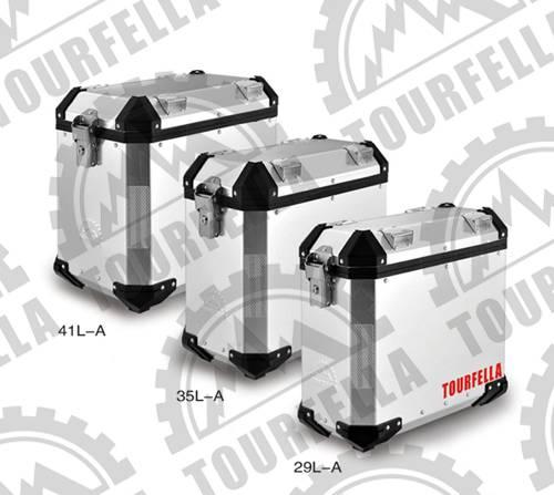 Tourfella 41L/35L/29L Alu. motorcycle tail boxes
