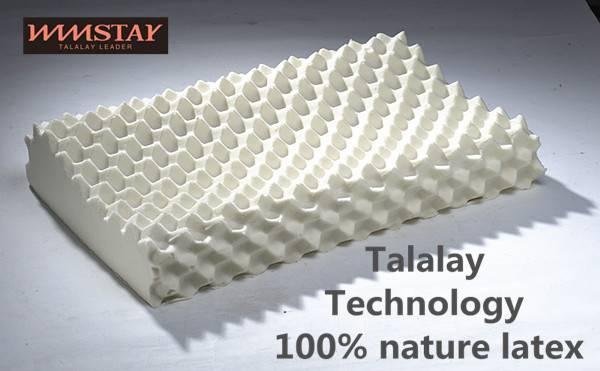 Talalay Technics Process 100% Nature Latex Foam Pillow Massage Pillow