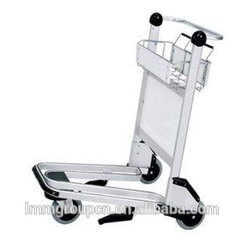 stainless steel luggage trolley airport