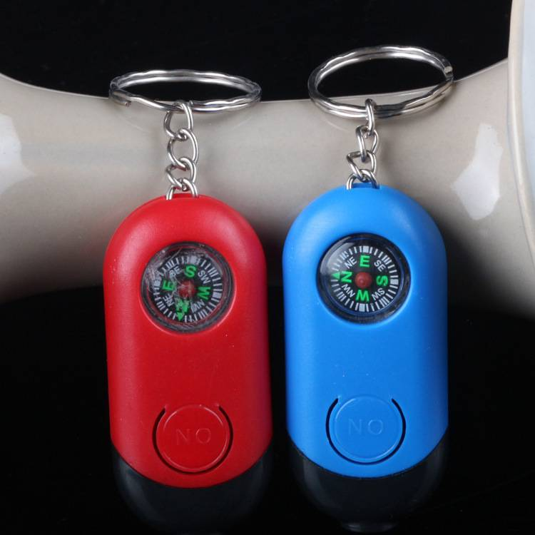 LED compass keychain light LED key chain with compass