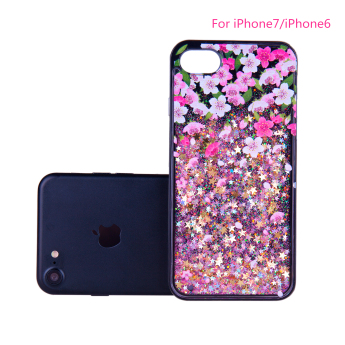 Luxury electroplating mirror tpu pc cell phone cases cover for apple iphone 7 plus 6 6s