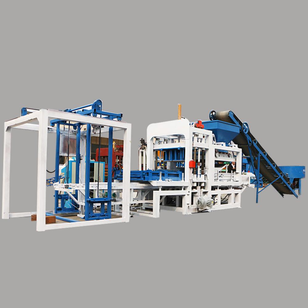 automatic concrete hollow block cement paver brick making machine