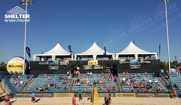 2016 AVP Beach Volleyball (USA) - 10m High Peak Gazebo Canopy for Reception