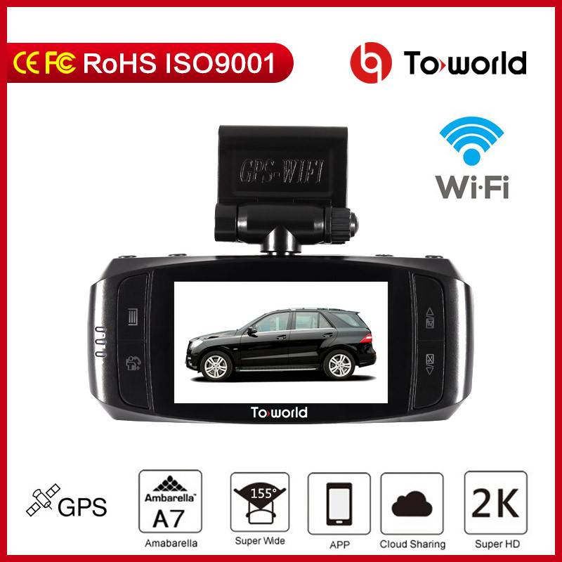 Car DVR , 2.7' LCD, Amba A7, built in GPS  and  WIFI, support 4G function,