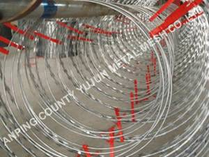 Hot Sale High Quality Electric Galvanized Razor Barbed Wire