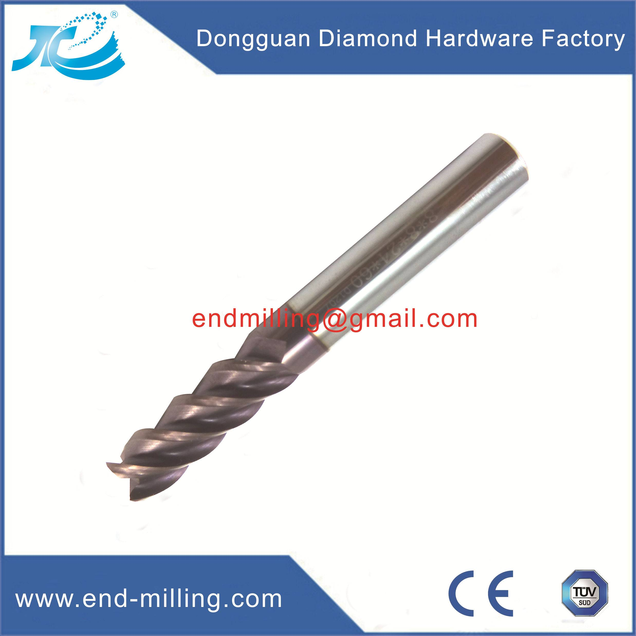 Tungsten Steel End Mills for Stainless Steel