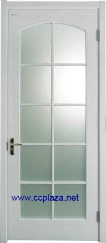 Fiberglass solid wooden doors of oak or rosewood with glass, internal door entry doors, model smm005