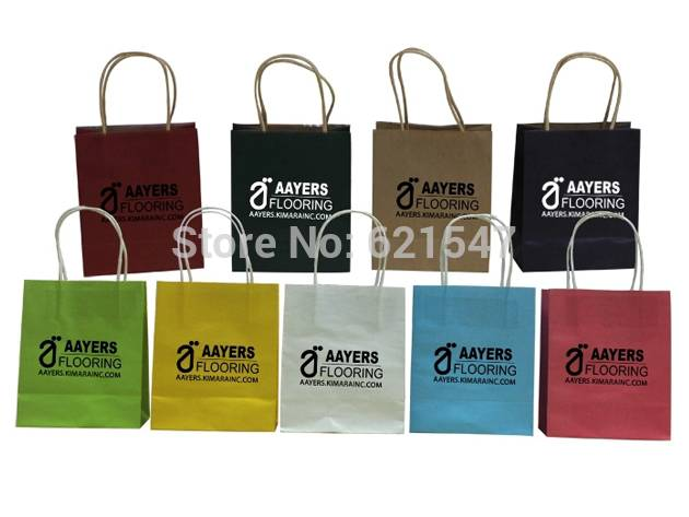 free logo printing kraft paper bags gift bags, Party, Lolly,Favour, Wedding, Packaging 21*15*8cm