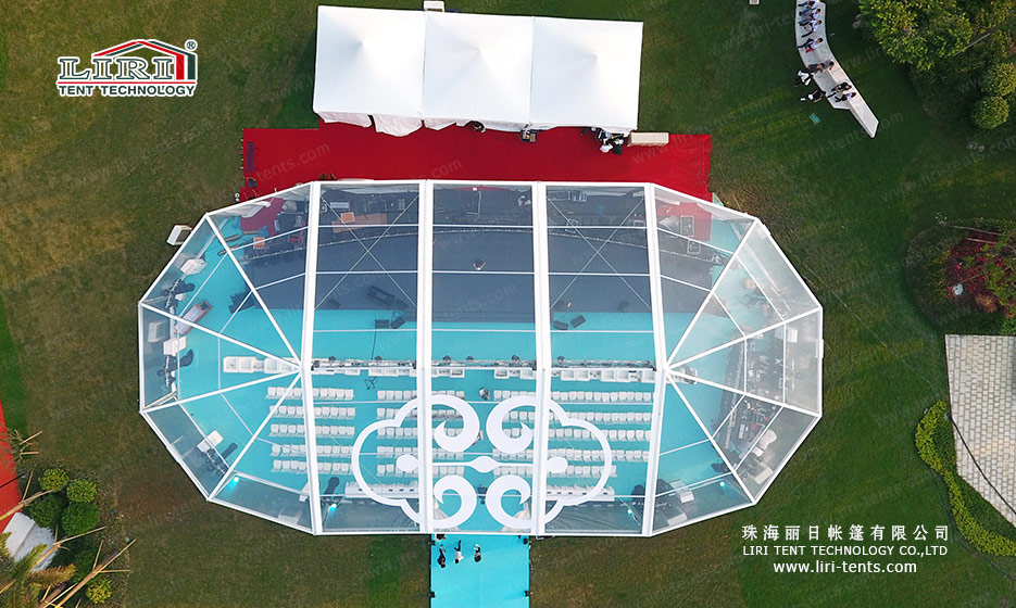 300 People Transparent Party Marquee with Clear Roof Cover for Outdoor Parties