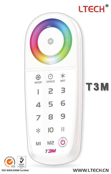 T3M 2.4G LED zone touch controller/multi color led remote control