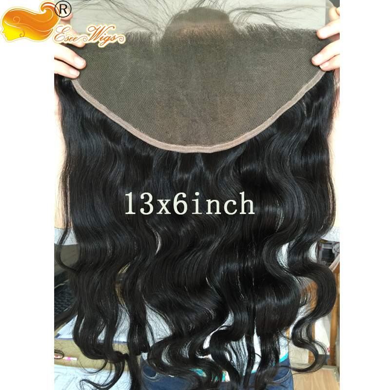 7A 13X6 Lace Frontal Closure Ear To EarLace Frontal Body Wave with Baby Hair Peruvian Unprocessed Vi