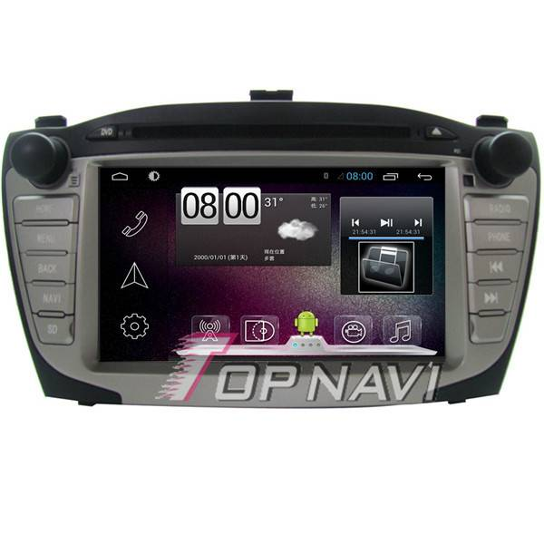 "800*480 7"" Android 4.4 Car DVD Player For Hyundai IX35 2009-2012 GPS Navigation"