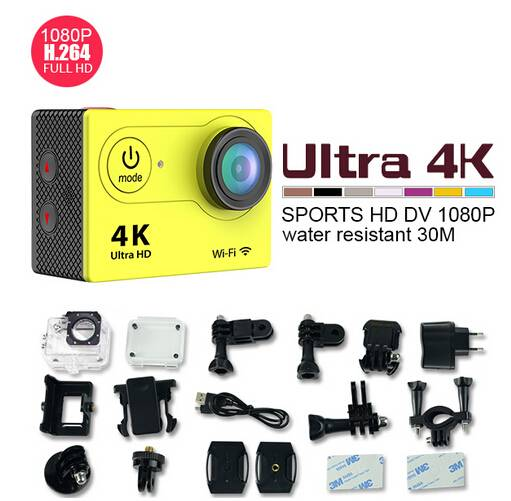 Original Eken H9 Ultra HD 4K Video 170degrees Wide Angle Sports action Camera 2-inch Screen 1080p 60