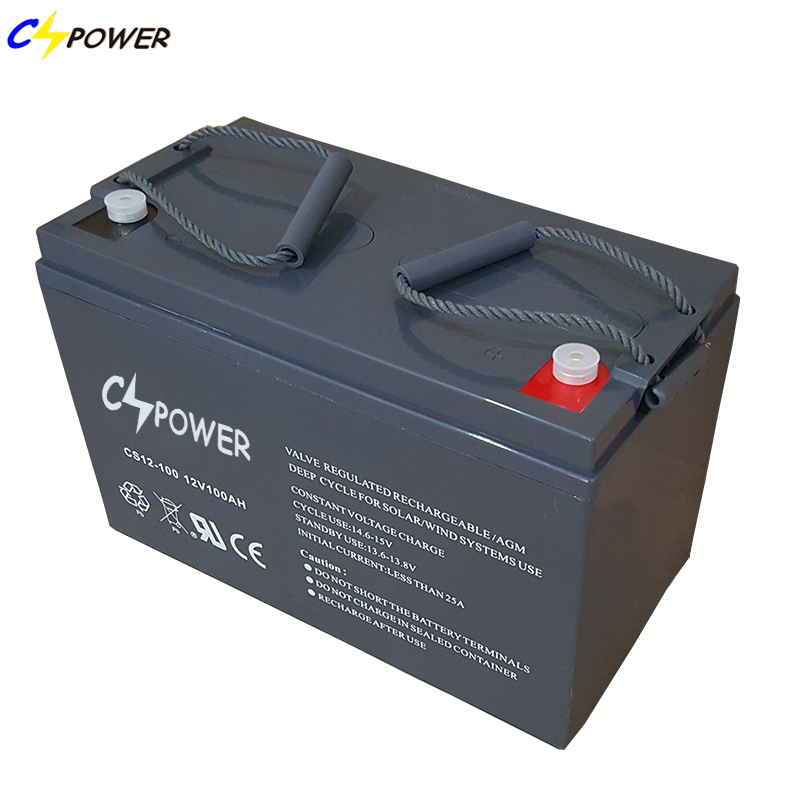 12V 100Ah Deep Cycle AGM battery for solar system/ UPS