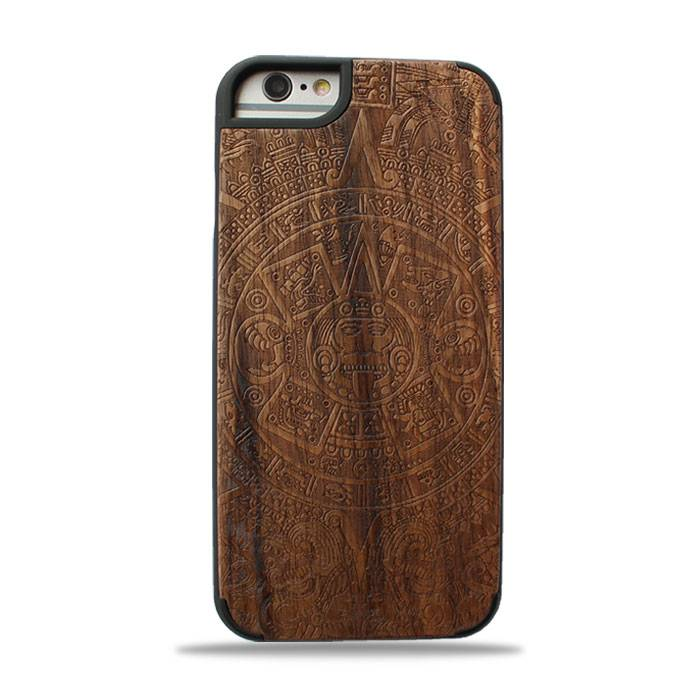 New design premium wood phone case solid phone protective cord back high quaility Iphone6/6P Maya To