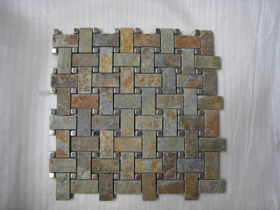 Slate mosaic ZFBM017-D