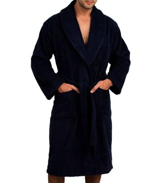 Men's cotton bathrobes