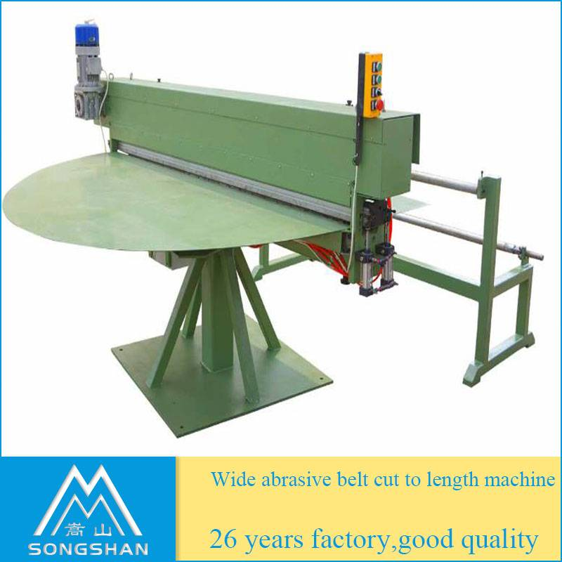 wide abrasive cloth cut to length machine abrasive cloth cutting machine