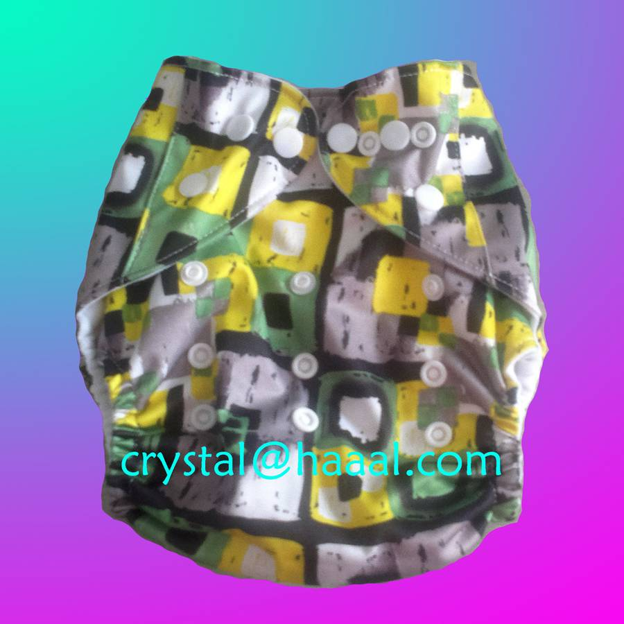 grid printed nappy cover