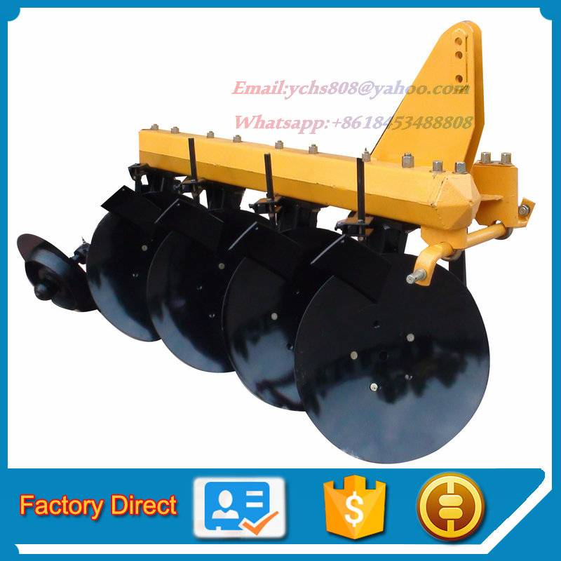 Tractor mounted 4 discs plough