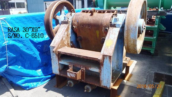"USED ""RASA"" 30"" X 9"" JAW CRUSHER S/NO. C-6510"