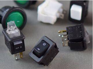 Industry's Mini Subminiature Smallest AC/DC Lighted and Non-illuminated  Rocker Switches