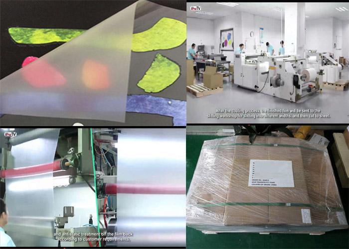 Cheapest Hot/Cold Peel Matt/Glossy Printable Heat Transfer Film for High Density Heat Transfer Label