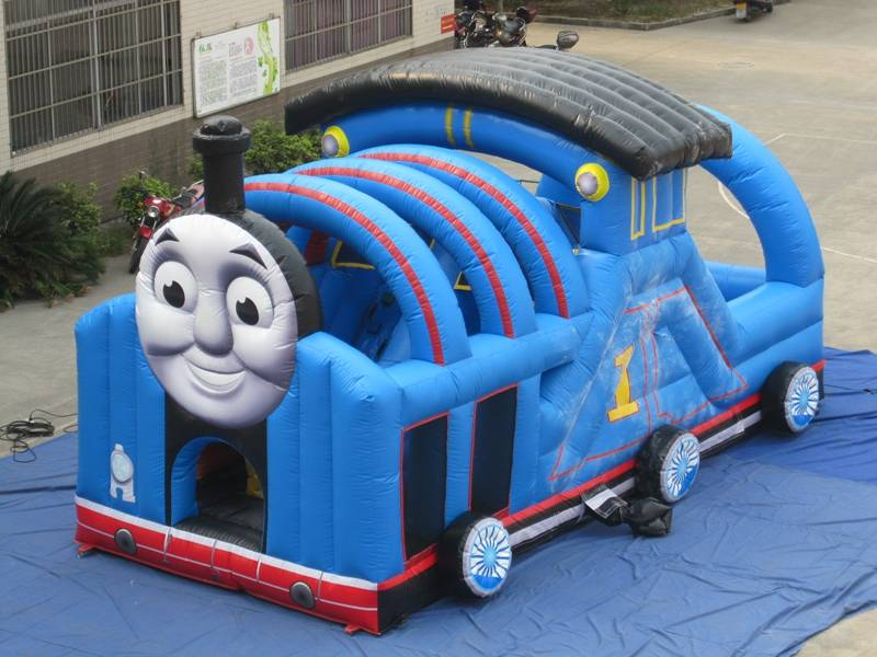 Lanqu thomas the train inflatable bounce house
