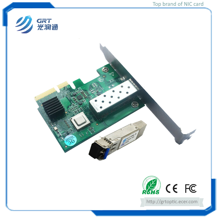 Low power dissipation PCIe 10Gb 1-Port Ethernet Network Server Adapter Card with 10G SM Module
