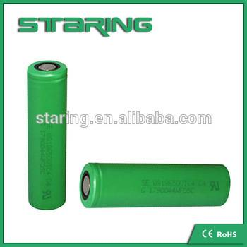 Factory price for Sony 30a Discharge Vtc5 18650 Battery 2600mah green color original battery limited