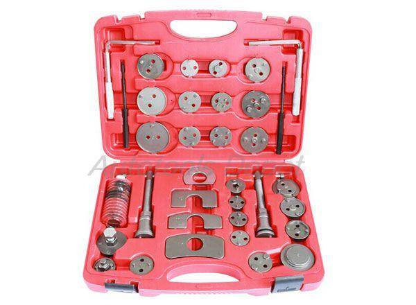 Universal 35pcs Caliper Disc Brake Pad Wind Back Piston Compressor Tool Kit