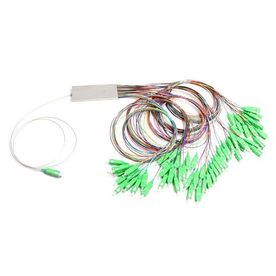 1X64 PLC splitter Steel tube type with 900um fiber