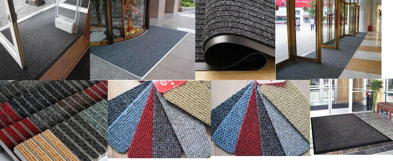 CHEVRON Heavy Traffic Carpet Scraper Floor Mats