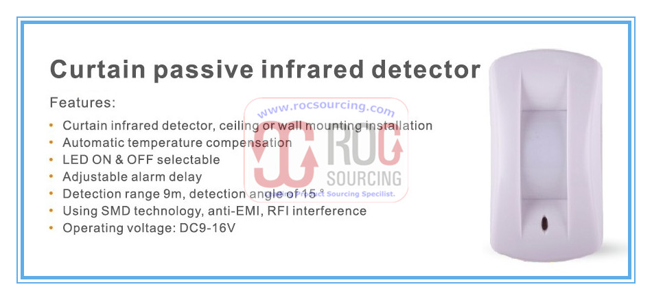 Home Alarm Security System Curtains Directive Detector Passive infrared PIR Curtain motion Sensor