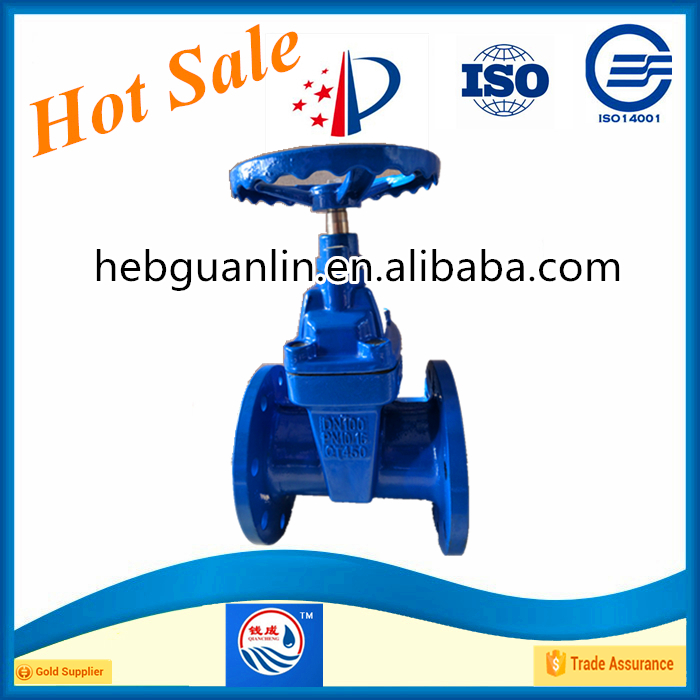 Ductile Iron DIN3352 F4 Gate Valve DN100 PN16 Made In China