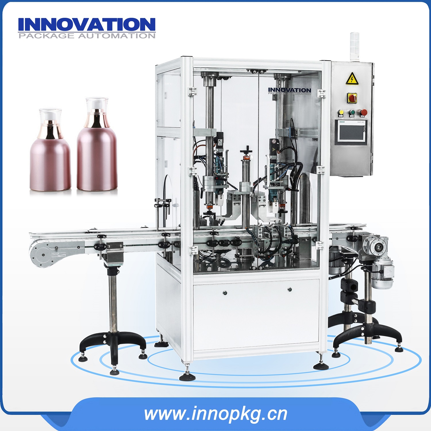 Automatic filling capping machine for liquid soap