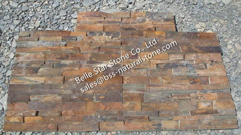 Sunset slate ledgestone,California gold slate culture stone,rust slate stone veneer