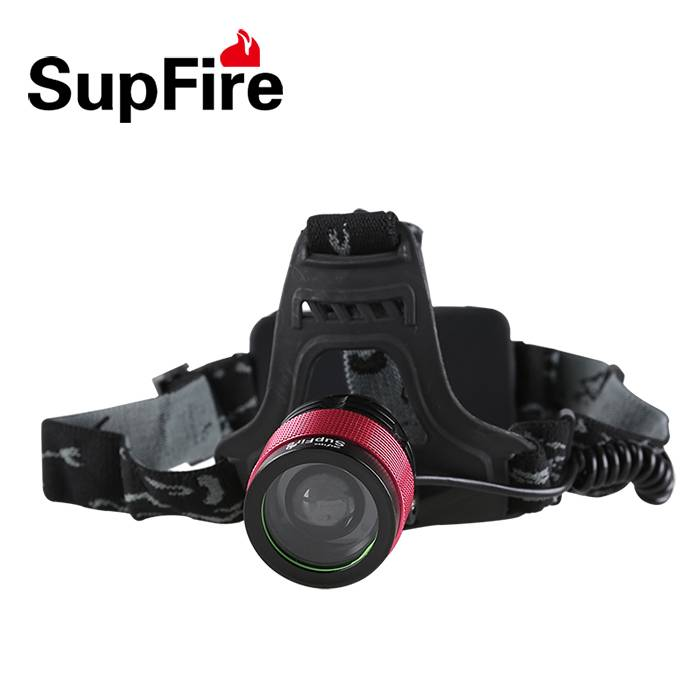 New delicate red ring zoomable headlamp SupFire HL01 800lumens LED headlight