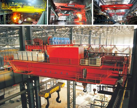 Double girder casting overhead crane