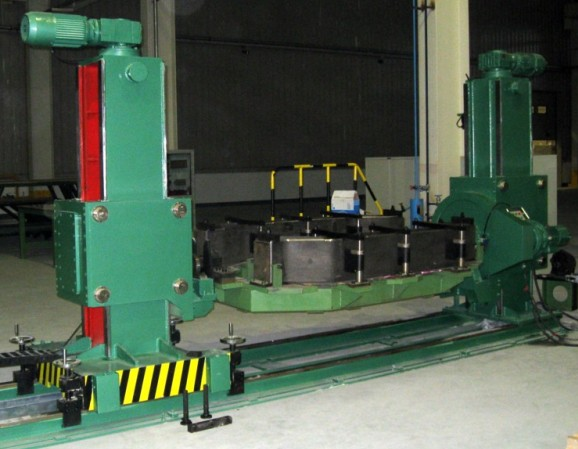 Double Column Elevating Welding Positioner Synchronous Lifting Up and Down