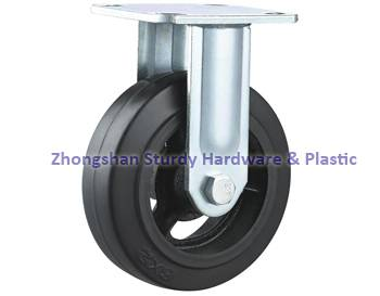 "Trash Containers Casters 6"" Mold on Rubber Wheel"