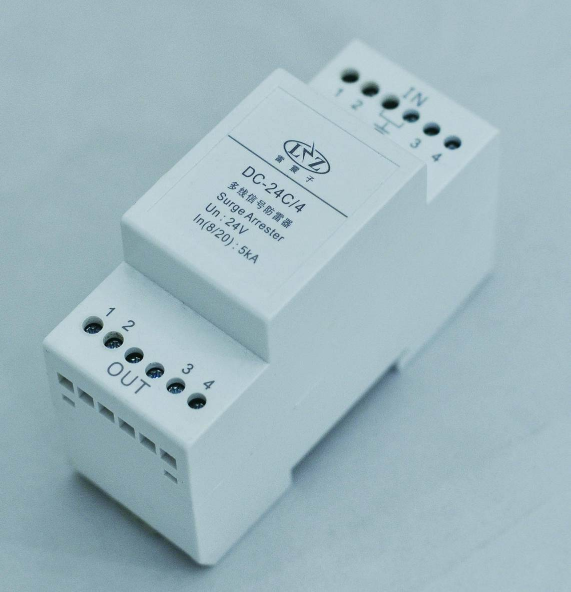 DC-C/4 series 4- wire control signal surge protection device