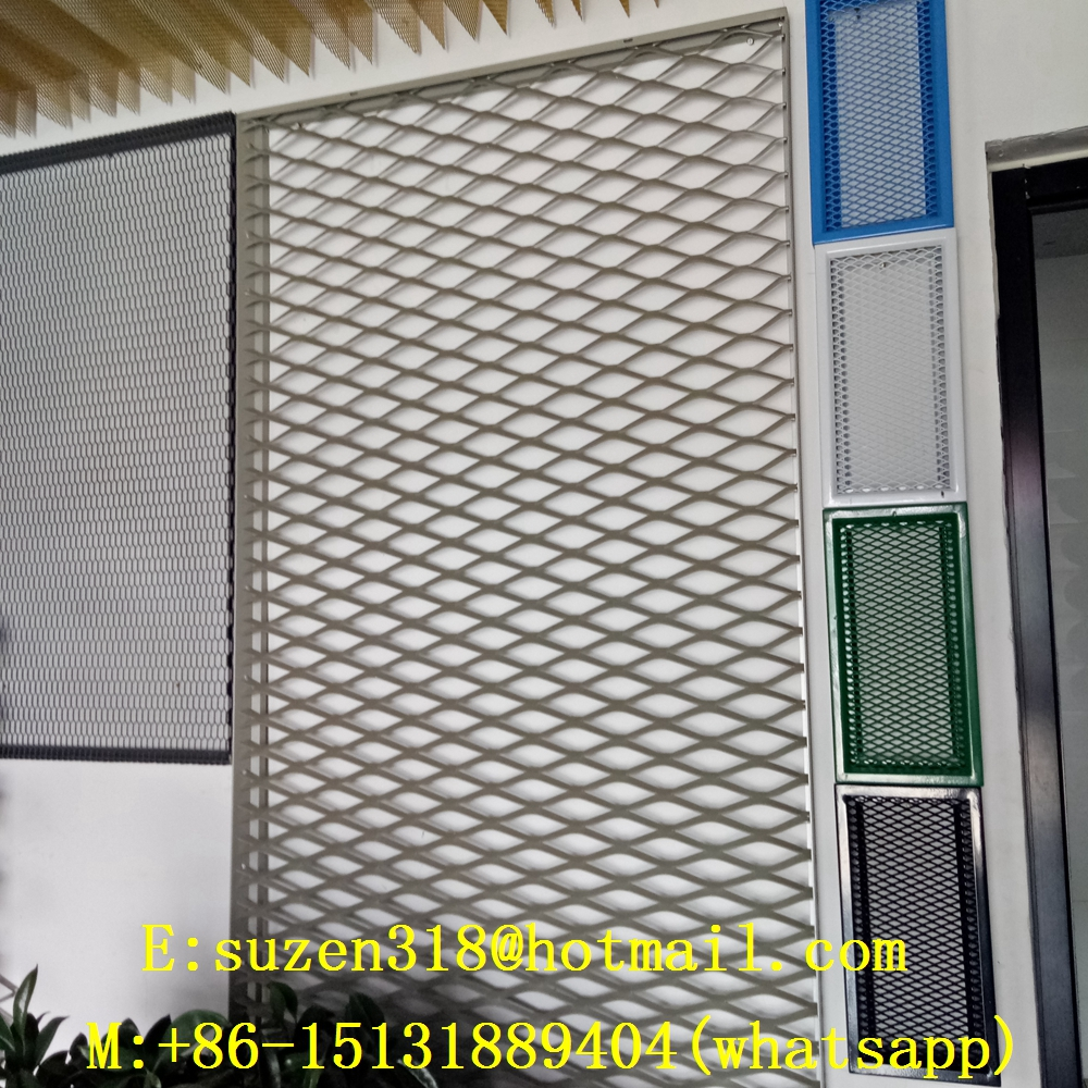 suspended aluminum expanded metal panel ceiling